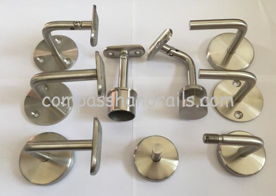 Powder Coated Stainless Steel Balustrade/Baluster/Handrail Glass Fitting and Bracket for Stair/Staircase Railing