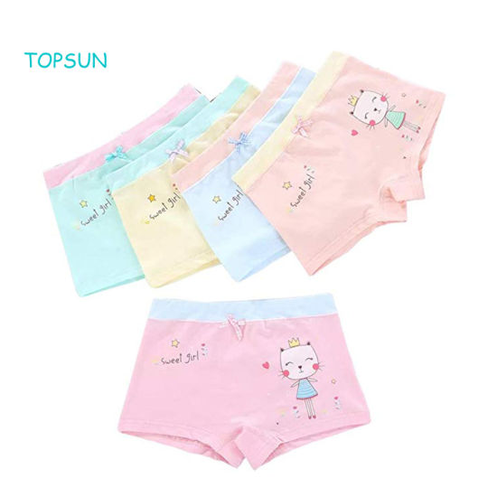 Girls Cotton Underwear Soft Baby Shorts Kids Boxer Briefs Panties (Pack of 5) pictures & photos