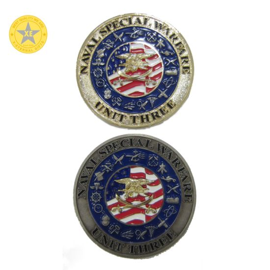 Custom Wholesale Souvenir Military Navy Police Metal Challenge Coin Manufacturer