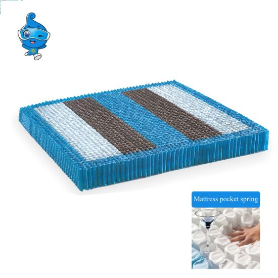 Compressed Mattress Spring Coil and Mattress Pocket Spring Unit