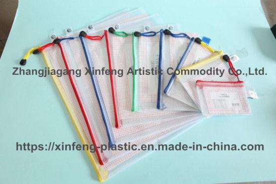 Factory Custom PVC Mesh Transparent Ladies Cosmetic Bag Mesh Zipper Bags