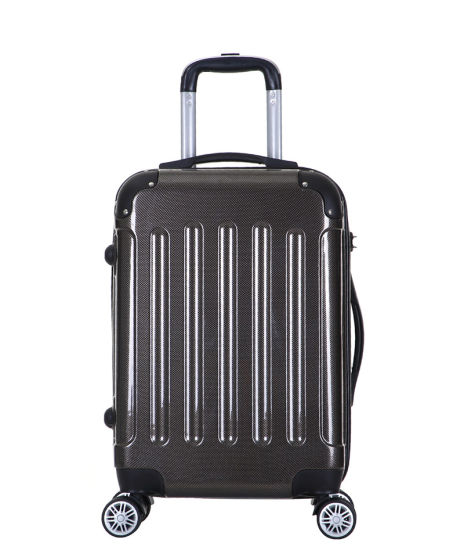 Lightweight Silent Wheels Glossy ABS+PC Trolley Luggage Bag (XHP123)