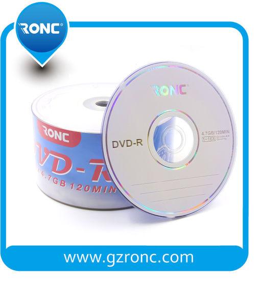 Ronc Hot Selling Blank DVD-R Disc 8X 16X 4.7GB
