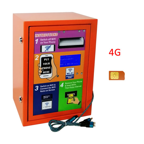 2020 Small Business Machine Ideas 4G Self-Service Banknote Payment WiFi Service and Charging Features WiFi Vending Machine