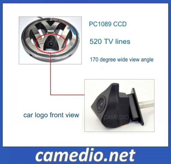180 Degree CCD Car Logo Front View Camera for Volkswagen Series pictures & photos