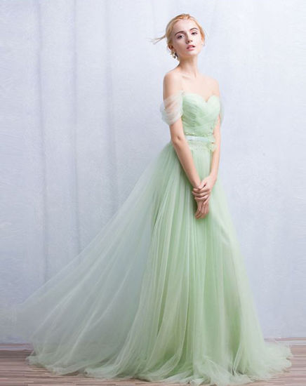 China off Shoulder Backless Evening Ball Gown Bridesmaid Dress ...