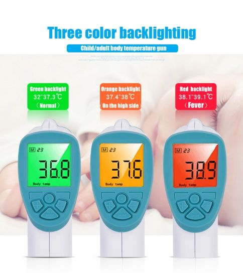 Indoor Outdoor Digital Handheld Electronic Non-Contact Forehead Infrared Thermometer