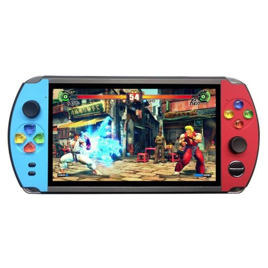 Portable Game Player X19 Handheld Game Console for Retro 7 Inch 16GB TV Games Music White Camera USB Built in 3000+Games