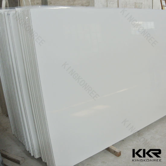 Attirant Chinese 20mm Absolute White Quartz Stone Countertop Slabs (Q1705178)