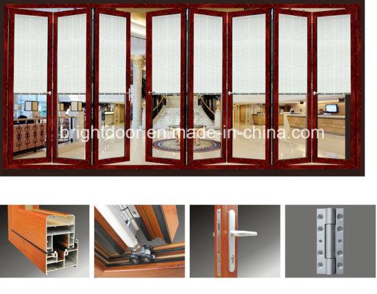 China Exterior Glass Bi Fold Screenlouver Door House Door Design