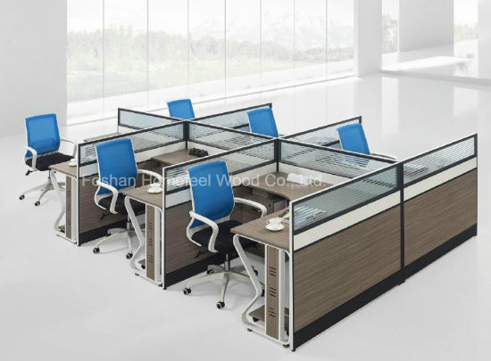 China modern employee office workstation with office for Modern office partition design