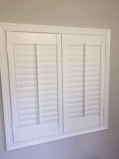 Bathroom Waterproof Pvc Window Plantation Shutter