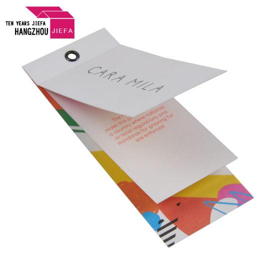 Wholesale Luxury Garment Die Cut Cardboard Printed Swing Tag Hang Tags
