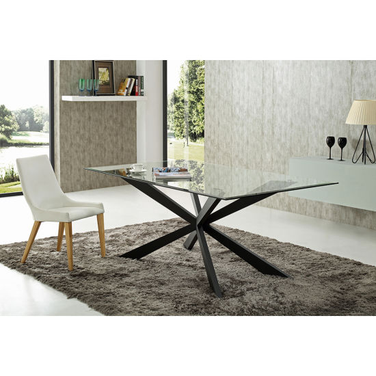 China New Design Gl Dining Table