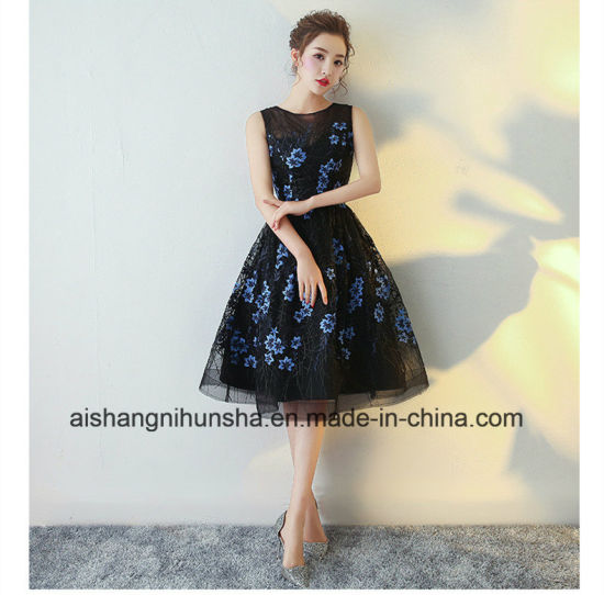 Elegant Black Cocktail Dresses Evening Gowns pictures & photos