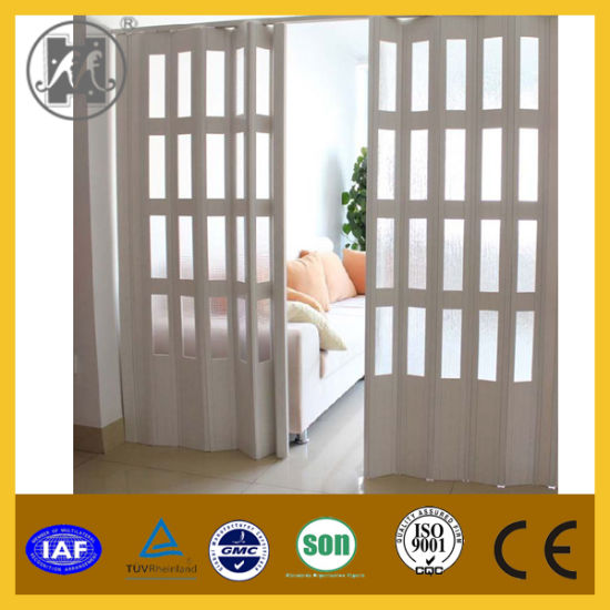 China Pvc Folding Door Pvc Accordion Door For Interior Decoration