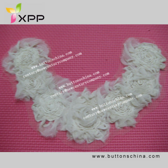 009 New Style Collar Lace for Garment with Stain Tape