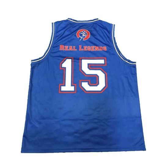 Blue Sublimation Sportswear Basketball Uniform Jersey with Good Printing pictures & photos
