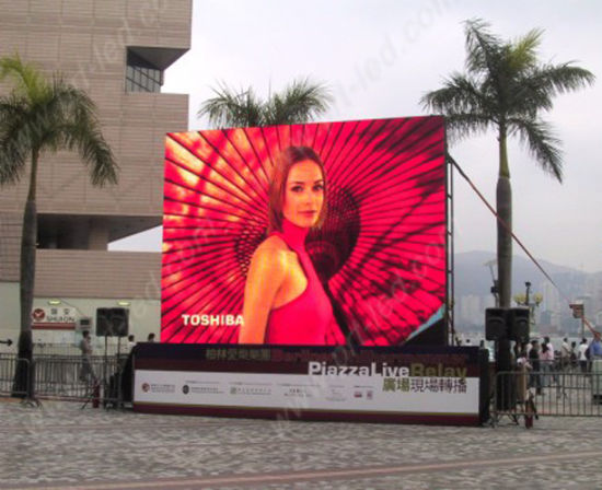 Full Color P6.25 LED Advertising Display with Die-Cast Board pictures & photos