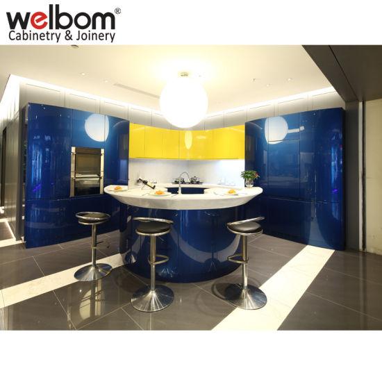 Welbom Modern Baked Paint MDF Kitchen Cabinets