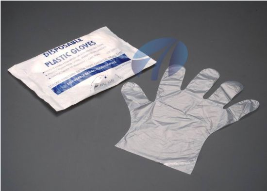 Food Grade Handling Factory Disposable PE Gloves pictures & photos