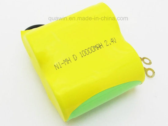 2.4V D 10000mAh NiMH Rechargeable Batteries Pack pictures & photos