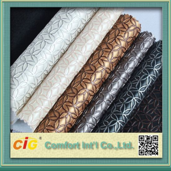 PVC Decorative Leather/PVC Leather for Decoration pictures & photos