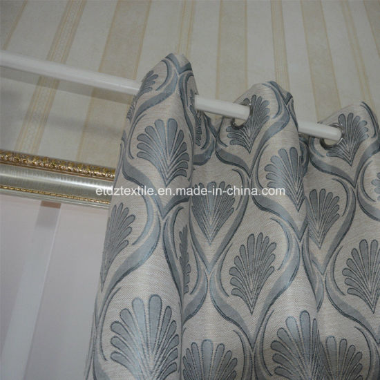 Grey 2015 Top Sell Linen Touching Jacquard Curtain Fabric pictures & photos