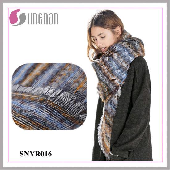 Winter Warm Ladies Jacquard Twill Imitation Cashmere Scarf