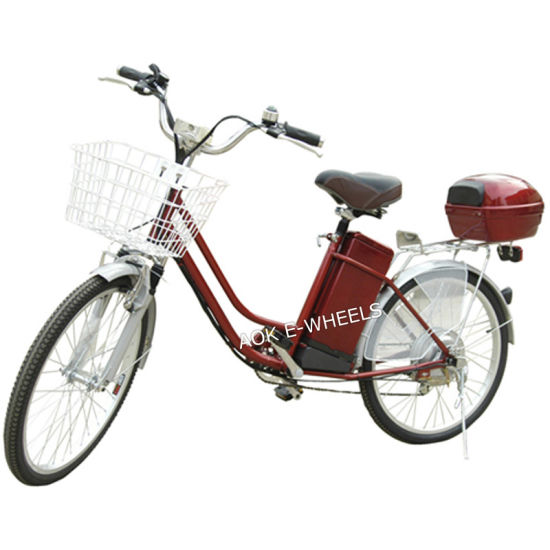 200W/250W E-Bicycle Lead-Acid Electric Bicycle for Girls (EB-070) pictures & photos