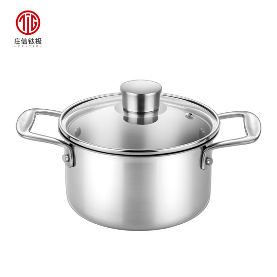 2018 Newest Chinese Stainless Steel Hot Pot with Titanium Inner Layer
