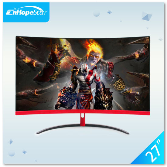 """27"""" Widescreen TFT LCD Curved Gaming LED Monitor Free Sync 144Hz with HDMI+Dp+USB+Audio+DC"""