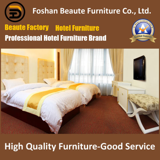 Hotel Furniture/Luxury Double Bedroom Furniture/Standard Hotel Double Bedroom Suite/Double Hospitality Guest Room Furniture (GLB-0109876) pictures & photos