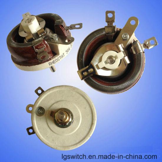 Wirewound Ceramic Potentiometer Rotary Rheostat Resistor 100W 50ohm