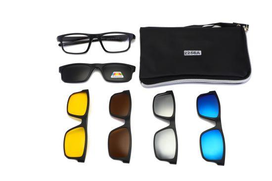 2d06cd637b New Model Ultra-Light Polarized Clip on Sunglasses Men Women Magnetic Tr90  Optical Glasses Frame