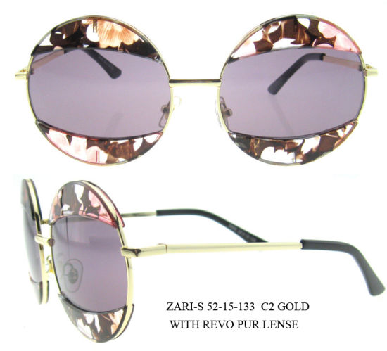 2016 Products Fashion Brand Mirror Round Women′s Order Sunglasses pictures & photos