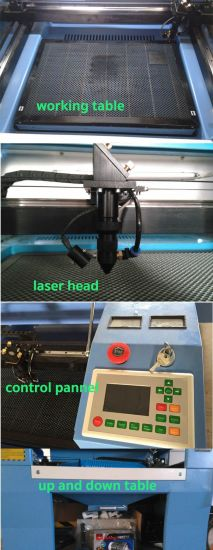 Ck6040 CO2 Laser Engraving Wood Cutting Machine for Rubber Stamp Acrylic pictures & photos