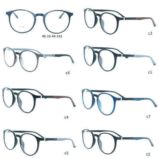 1d3b17e10f7 Fashion Design Optical Glasses Spectacles Eyewear Eyeglasses Frame with  Ready Goods Factory Wholesale MOQ 50PCS 7 Colors Option