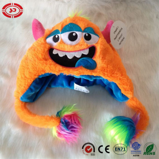 Orange Three Eyes for Baby Gift Plush Soft Hat Toy pictures & photos