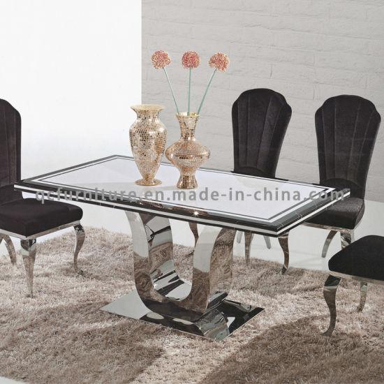 Modern Dining Room Table Marble Top Metal Legs
