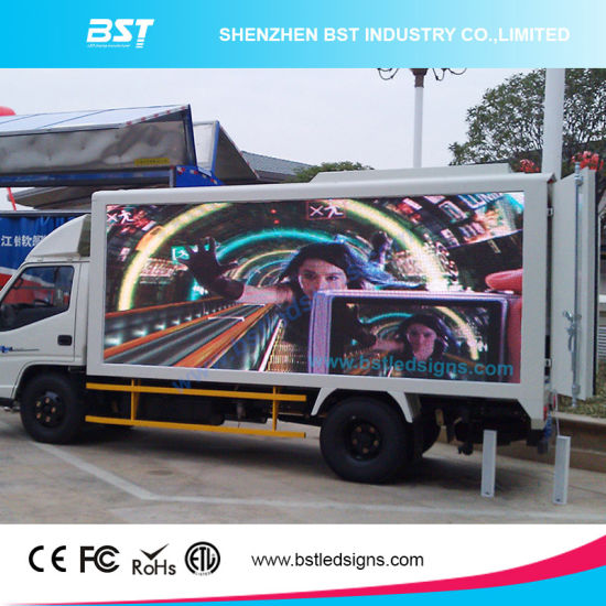 China Outdoor High Resolution Truck LED Display for mobile