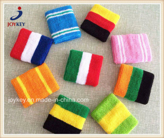Various Colors Terry Cotton Sports Wristband