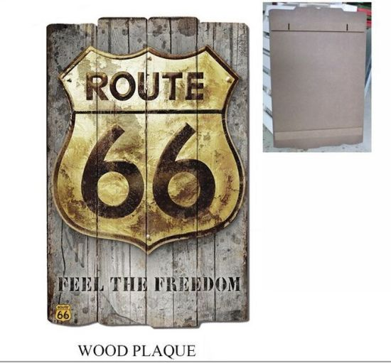 China Wholesale Wooden Plaque With Old Route 66 Designs For Wall