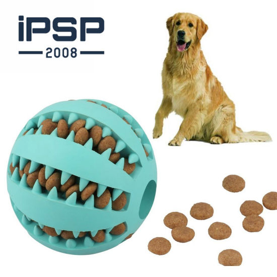 Treat Slow Feed Rubber Chew Interactive Tooth Cleaning Ball