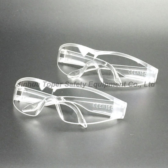 Impact Resistant Transparent Frame Safety Goggles (SG124) pictures & photos