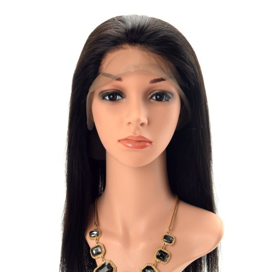Wholesale Silk Straight Virgin Human Hair Frontal Lace Wigs pictures & photos