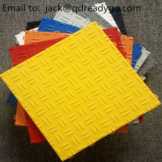 Diamond PVC Interlocking Plastic Garage Flooring, Outdoor Interlocking Floor Tiles for Garage Floor