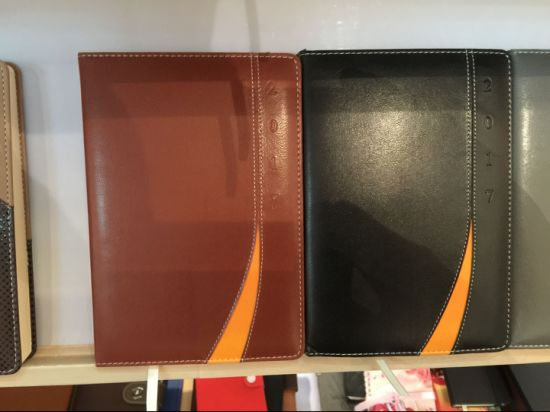Fashion A5 Hardcover PU Leather Diary pictures & photos