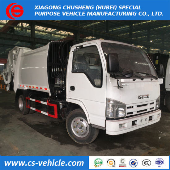 for LHD Isuzu Garbage Truck with Detachable Carriage /8m3 Refuse Collector Truck