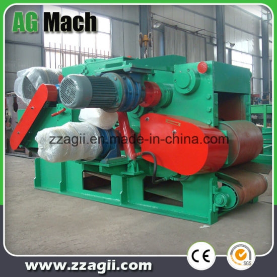 Ce Approved Industrial Large Scale Drum Wood Chipper Shredder Machine